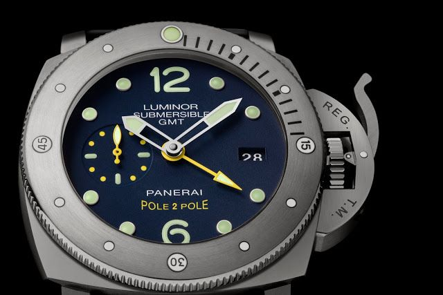 Panerai Lumminor Submersible 1950 3 days gmt automatic titanio PAM00719