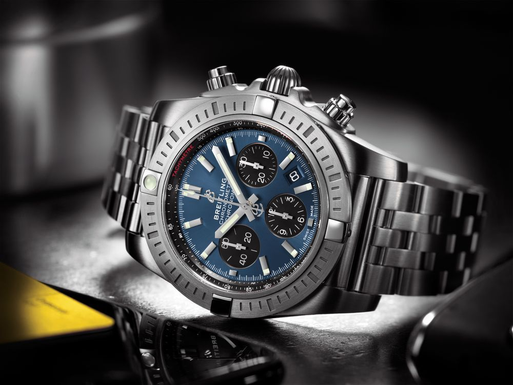 Breitling Chronomat B01 Chronograph 44 with Blackeye Blue dial