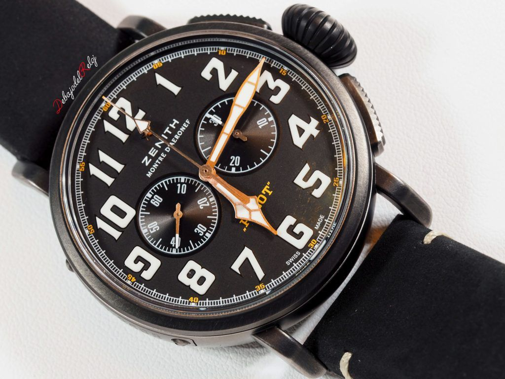 zenith Type 20 Chronograph Ton Up Blackdebajo del reloj front