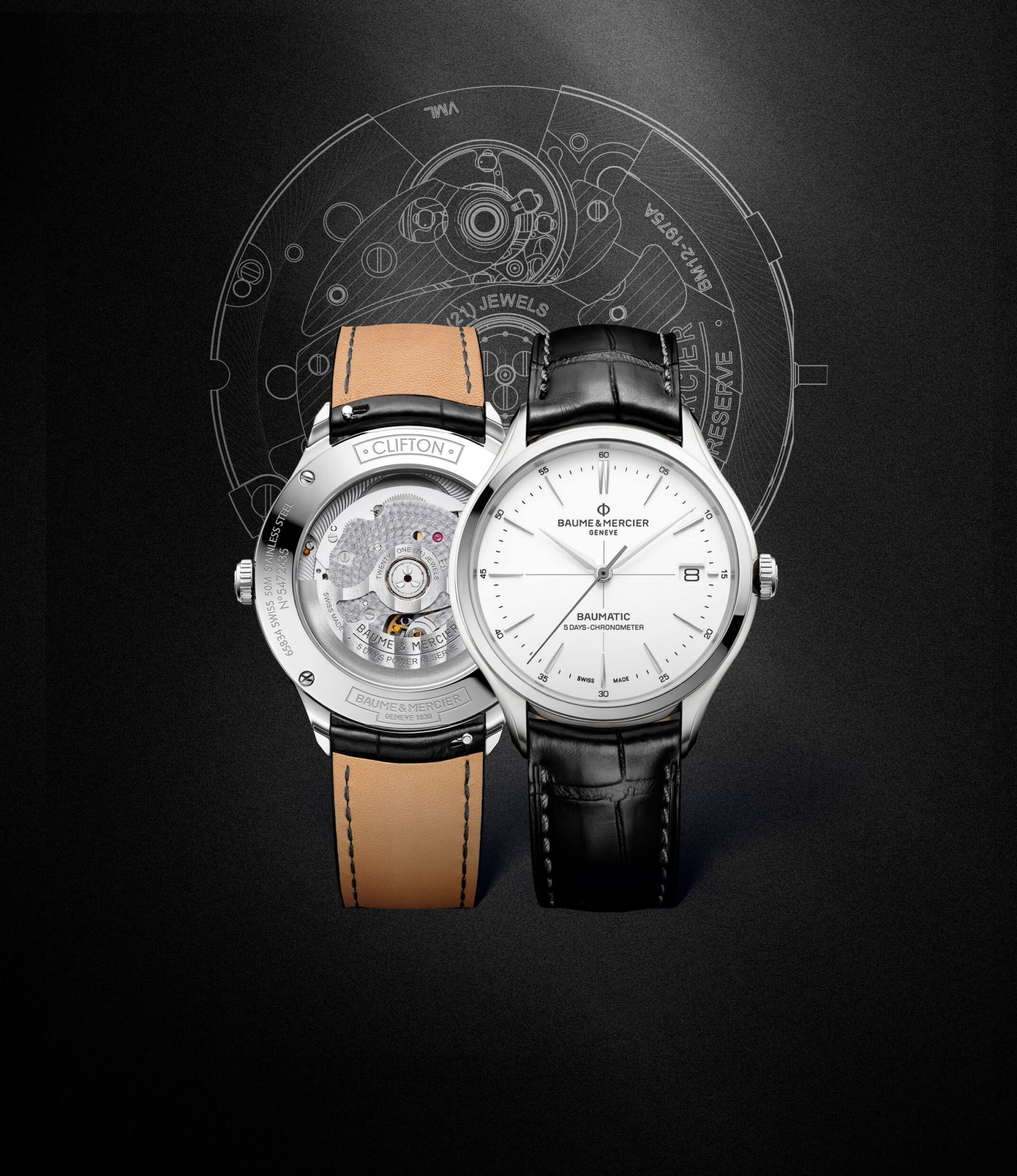 Clifton Baumatic Cosc Baume et Mercier Background