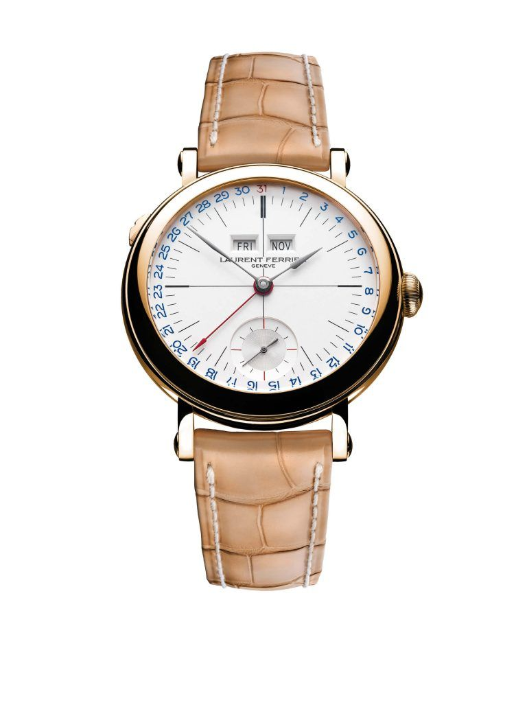Laurent ferrier Galet Annual blog debajo del reloj blanco