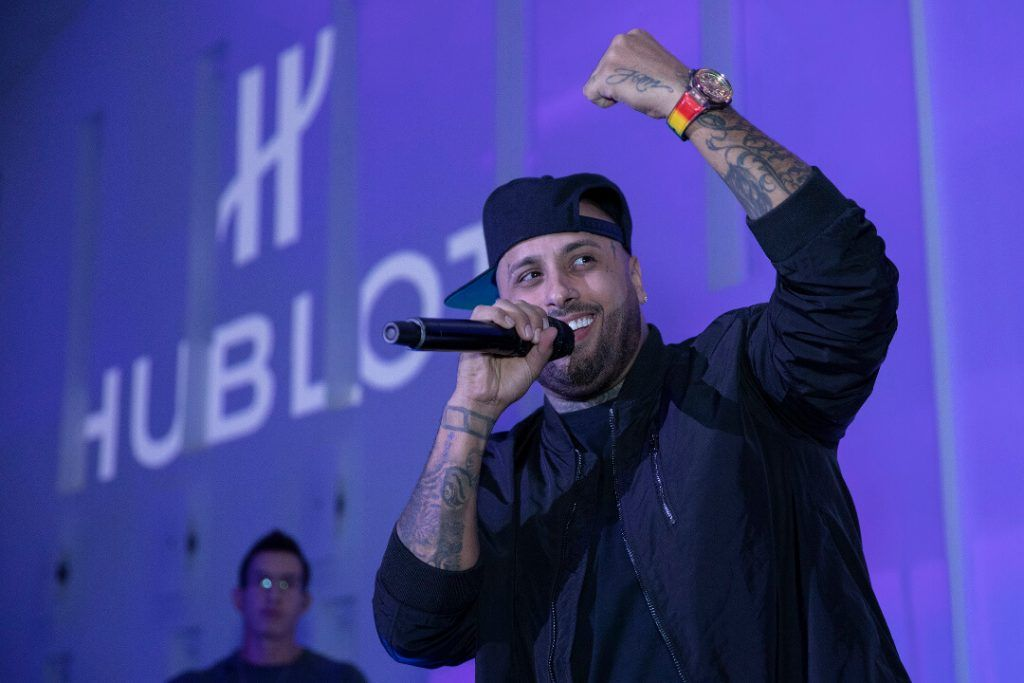 l_private concert of nicky jam for the launch of the hublot big bang meca 10 nicky jam blog debajo del reloj