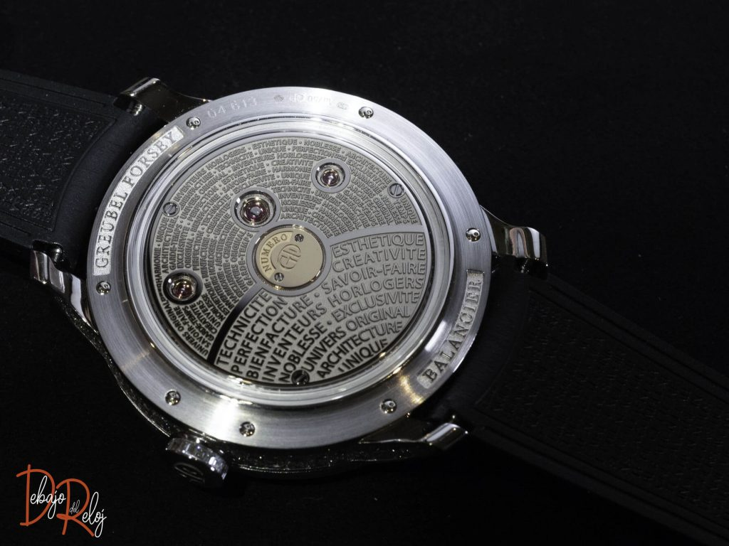 Greubel Forsey Balancier Contemporain back