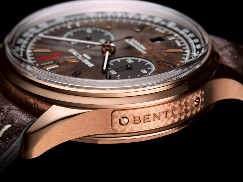 Premier B01 Chronograph Bentley Or detail