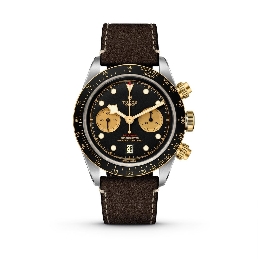 tudor Black Bay Chrono S&G piel