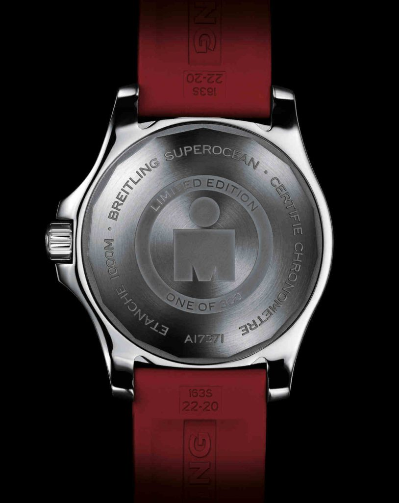 caseback of the superocean automatic 44 ironman limited edition 2