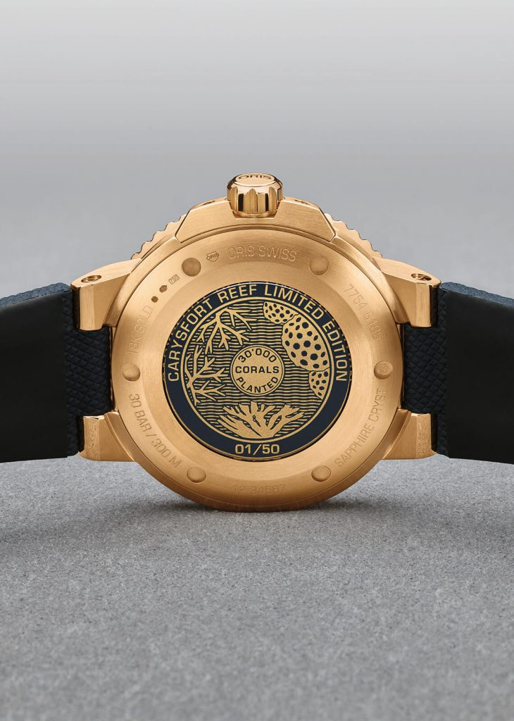 Oris Carysfort Reef Gold Limited edition portada back