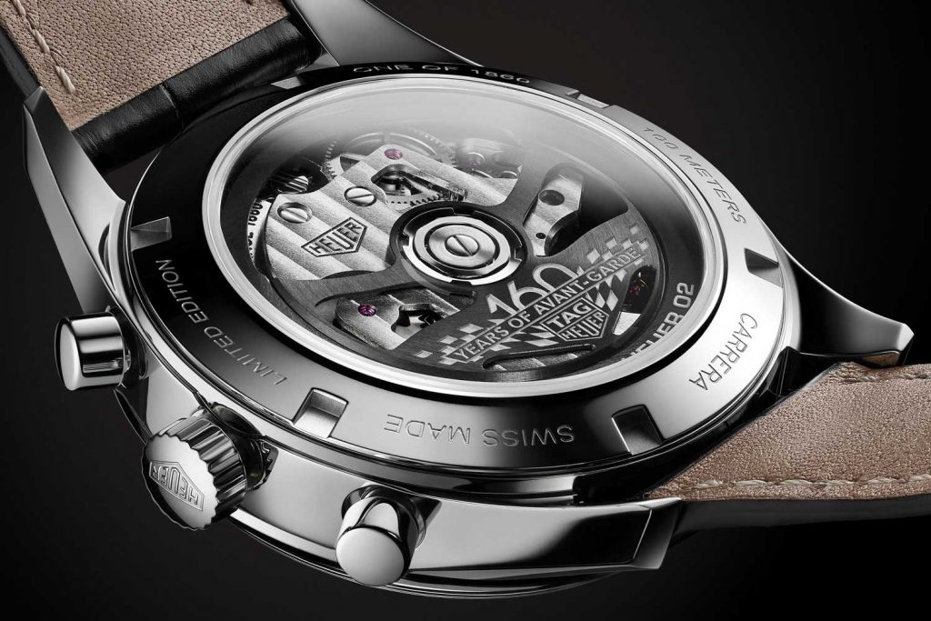 Tag Heuer Carrera 160 Years Silver Limited Edition Heuer back