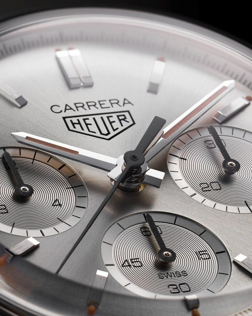 Tag Heuer Carrera 160 Years Silver Limited Edition Heuer deta