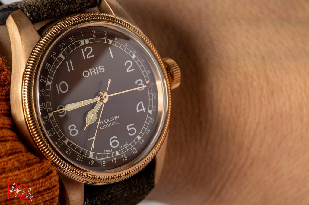 Oris Big Crown Bronze Pointer Date muñeca 1