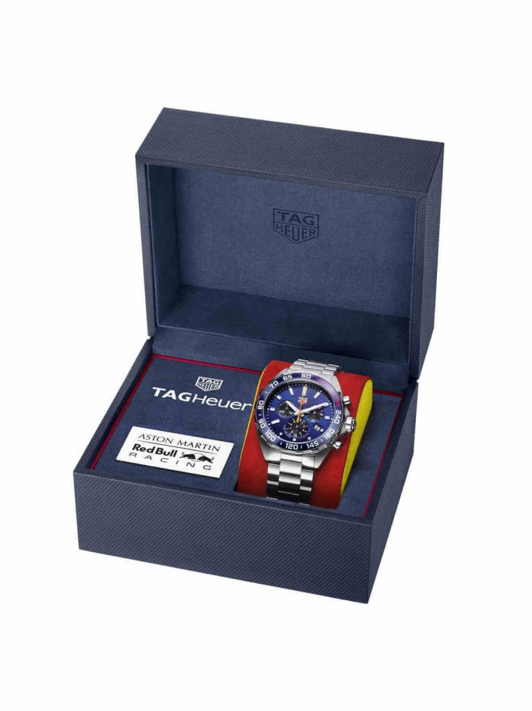 Tag Heuer Formula 1 Aston Martin Red Bull Racing Special Edition 2020 caja