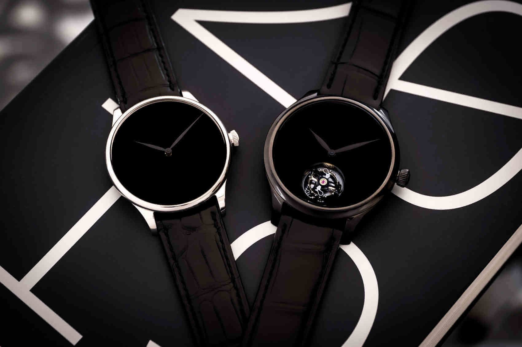 Venturer Vantablack Black Hands_2327-0222_Endeavour Tourbillon Vantablack Black Hands_1804-1206_Lifestyle
