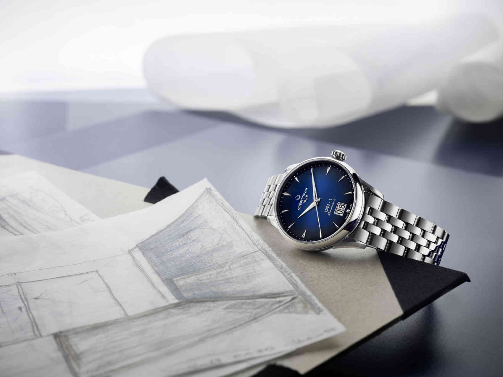 certina DS-1 Big Date Azul